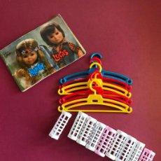 Muñecas Nancy y Lucas: LOTE ACCESORIOS CATALAGO PERCHAS RULOS NANCY FAMOSA AÑOS 70. Lote 138642478