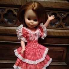 Muñecas Nancy y Lucas: PRECIOSO VESTIDO DE GITANA DE NANCY - Nº 48 - FAMOSA - ROJO CON LUNARES. Lote 140098730
