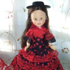 Muñecas Nancy y Lucas: BONITA NANCY ARTICULADA IRIS MARGARITAS MIEL CASTAÑA IMPLANTADA HA MAQUINA MUY BUEN ESTADO. Lote 148622854
