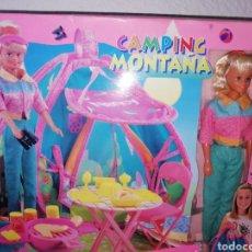 Muñecas Nancy y Lucas: NANCY CAMPING Y MONTAÑA FAMOSA. Lote 148799945