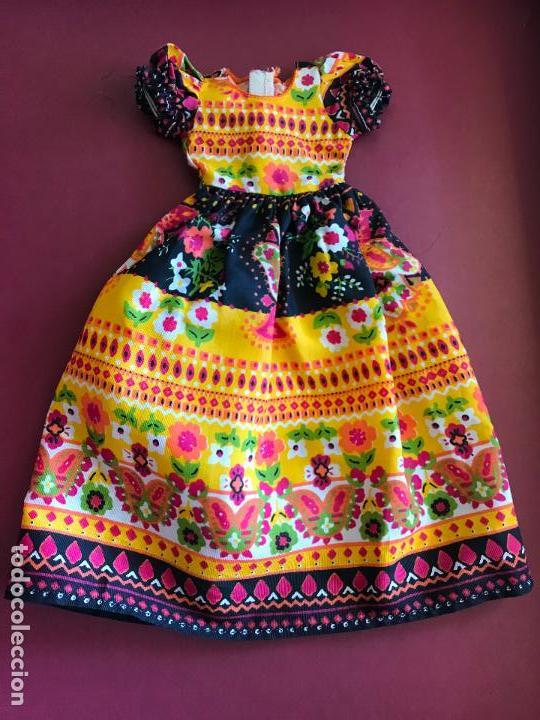 VESTIDO LARGO NANCY FAMOSA AÑOS 70 (Juguetes - Muñeca Española Moderna - Nancy y Lucas, Vestidos y Accesorios)