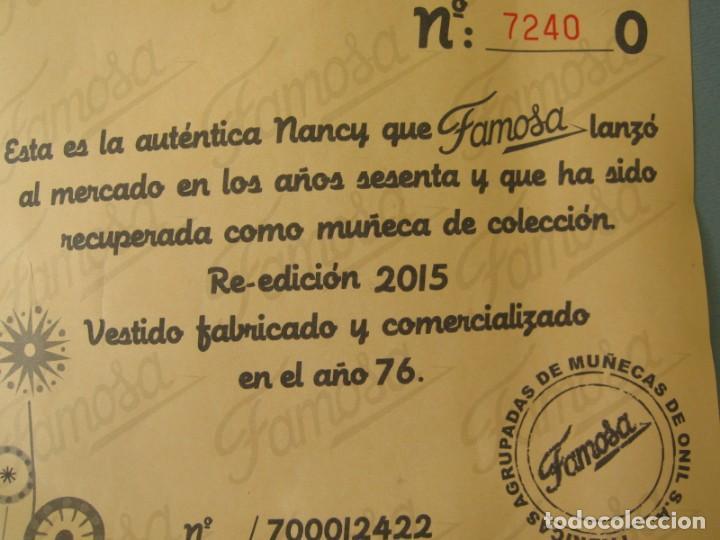 Muñecas Nancy y Lucas: Lote 118469011 CERTIFICADO DE AUTENTICIDAD DE NANCY Coleccion Mañana de Invierno - Foto 2 - 152227334