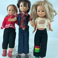 Muñecas Nancy y Lucas: LOTE 2 NANCYS Y 1 LUCAS. MARCA FAMOSA. CIRCA 1970. Lote 155785826
