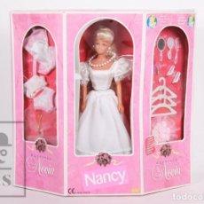 Muñecas Nancy y Lucas: MUÑECA NANCY BOUTIQUE NOVIA DE FAMOSA - ESTILO BARBIE - CAJA COMPLETA - AÑO 1998. Lote 157725746