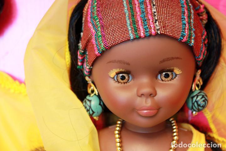 NANCY AFRICA DE FAMOSA, COLECCION QUIRON - NUEVA Y EN SU CAJA ORIGINAL - NUNCA JUGADA - AFRICANA (Juguetes - Muñeca Española Moderna - Nancy y Lucas)