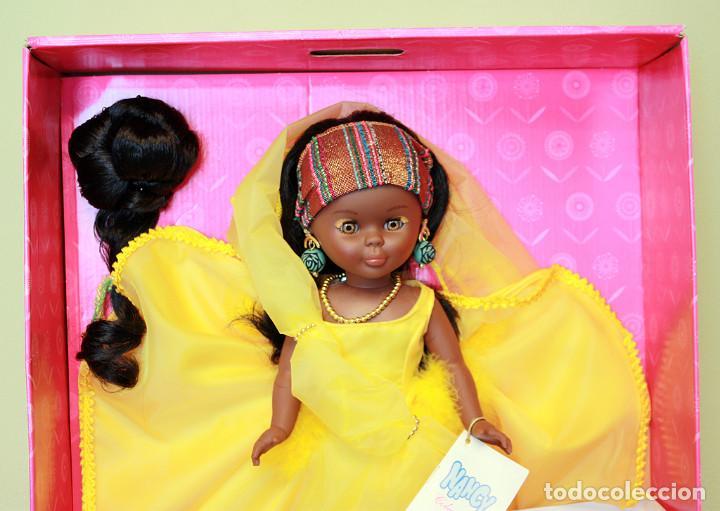 Muñecas Nancy y Lucas: NANCY AFRICA DE FAMOSA, COLECCION QUIRON - NUEVA Y EN SU CAJA ORIGINAL - NUNCA JUGADA - AFRICANA - Foto 3 - 159515654