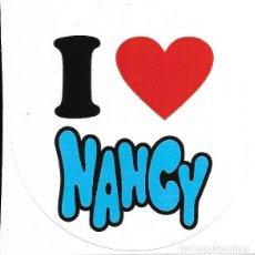 Muñecas Nancy y Lucas: == P02 - PEGATINA NANCY REDONDA - 7 X 7 CM.. Lote 160221330