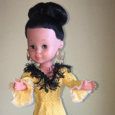 Muñecas Nancy y Lucas: NANCY FAMOSA DIFÍCIL VESTIDO GITANA AMARILLO ORIGINAL. Lote 164707826