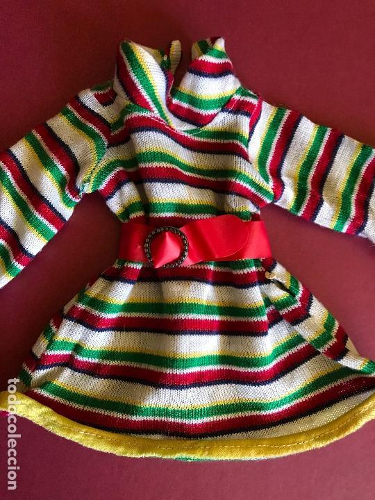 VESTIDO OTOÑO NANCY FAMOSA AÑO 72 CON DIFÍCIL CINTURÓN (Juguetes - Muñeca Española Moderna - Nancy y Lucas, Vestidos y Accesorios)