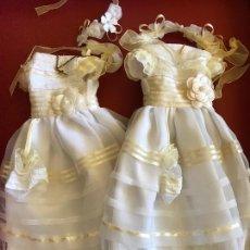 Muñecas Nancy y Lucas: LOTE 2 VESTIDOS NANCY FAMOSA COMUNIÓN NUEVOS . Lote 168111808
