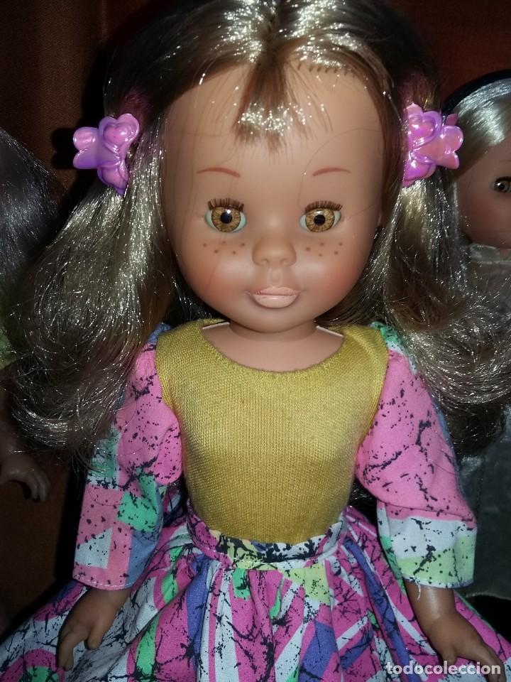 Muñecas Nancy y Lucas: rara muñeca nancy pecosa de transición cejas finas,pelo rubia cerveza años 80 + conjunto love you - Foto 2 - 171354173