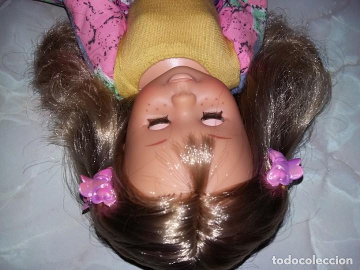Muñecas Nancy y Lucas: rara muñeca nancy pecosa de transición cejas finas,pelo rubia cerveza años 80 + conjunto love you - Foto 4 - 171354173