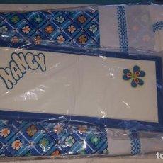Muñecas Nancy y Lucas: CAMA DE NANCY AÑOS 70 CON COLCHA AZUL, IMPECABLE CON SU CAJA ¡¡¡¡¡¡UNA JOYA!!!!!!!!!!. Lote 171747482