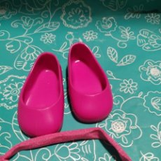 Muñecas Nancy y Lucas: ZAPATOS FUCSIA NANCY NEW Y DIADEMA ORIGINAL. Lote 173082910