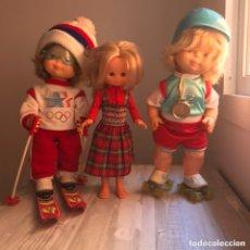 Muñecas Nancy y Lucas: LOTE LESLY HERMANITA NANCY ROLLY PATINADORA Y SILVIA SKI DE FAMOSA Y JESMAR. Lote 173854067