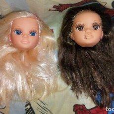 Muñecas Nancy y Lucas: LOTE Nº4 DE 2 CABEZAS DE NANCY NEW CON DEFECTOS, DE FAMOSA. Lote 176026063
