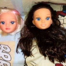 Muñecas Nancy y Lucas: LOTE Nº2 DE 2 CABEZAS DE NANCY NEW CON DEFECTOS, DE FAMOSA. Lote 176025645