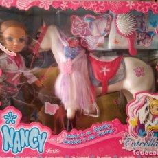 Muñecas Nancy y Lucas: NANCY Y CABALLO 2007 - NUEVA FAMOSA. Lote 180089953
