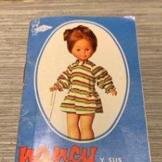 Muñecas Nancy y Lucas: ORIGINAL - NANCY - ANTIGUO CATALOGO DE 1973 - ORIGINAL EN MUY BUEN ESTADO DE CONSERVACION . Lote 184871766