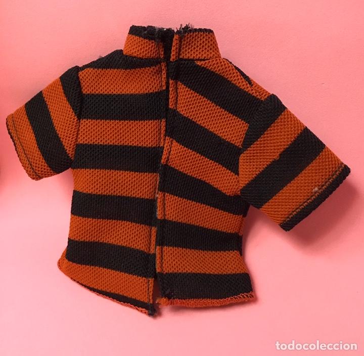 Muñecas Nancy y Lucas: Camiseta de Lucas de Famosa a rayas naranjas y negras, años 70 - Foto 2 - 190456260