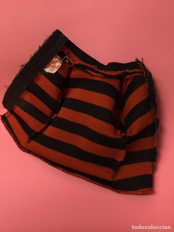 Muñecas Nancy y Lucas: Camiseta de Lucas de Famosa a rayas naranjas y negras, años 70 - Foto 3 - 190456260