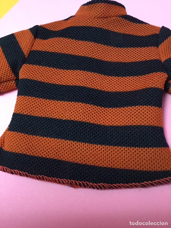 Muñecas Nancy y Lucas: Camiseta de Lucas de Famosa a rayas naranjas y negras, años 70 - Foto 4 - 190456260