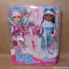 Muñecas Nancy y Lucas: MUÑECAS NANCY NEW Y ANABELLA ESQUIADORAS - DESCATALOGADO - NEGRA - NEGRITA - MULATA. Lote 191315691