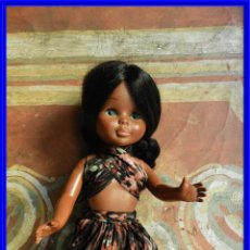 Muñecas Nancy y Lucas: NANCY NEGRA ORIGINAL DE FAMOSA MADE IN SPAIN OJOS AZULES IRIS MARGARITA. Lote 193003405