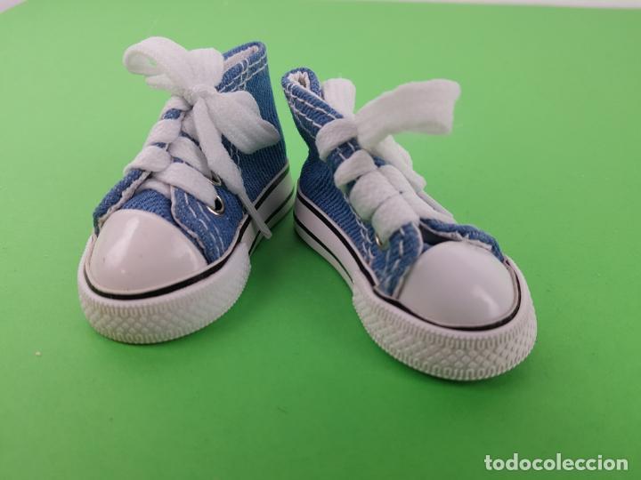 Muñecas Nancy y Lucas: zapatillas deportivas vaqueras tipo converse para Nancy Lucas playeras - Foto 5 - 194531592