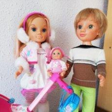 Muñecas Nancy y Lucas: NANCY, LUCAS Y SU BEBÉ CON CARRITO . Lote 194730103