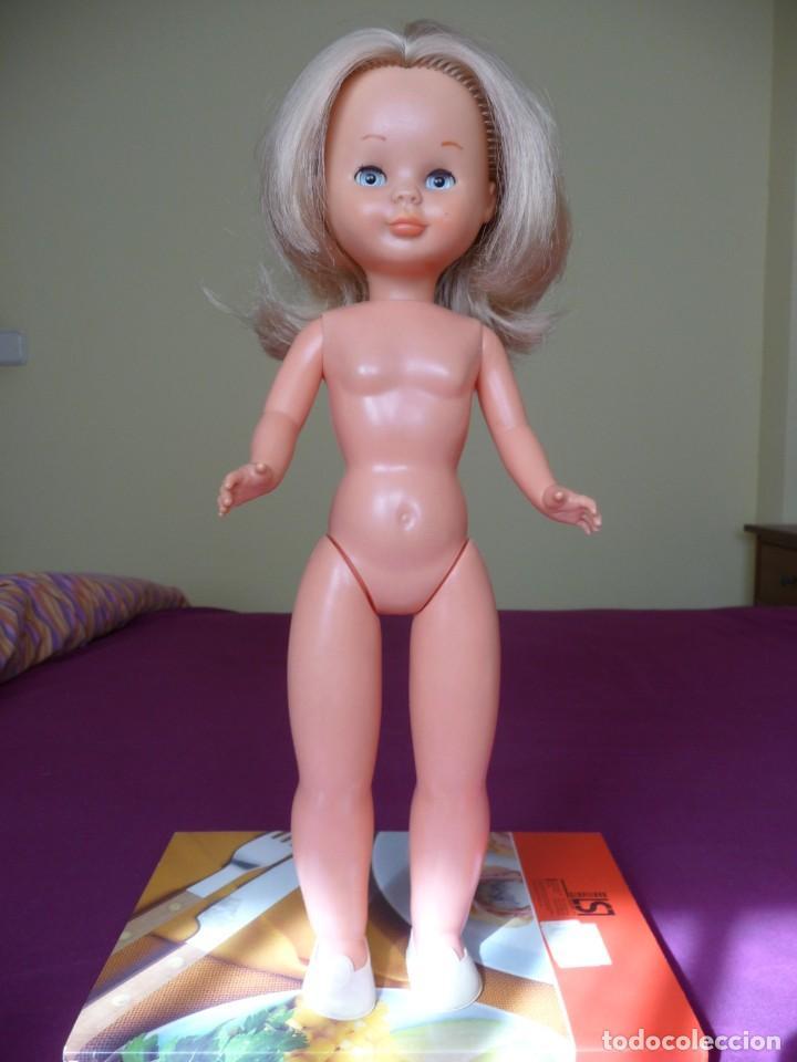 Muñecas Nancy y Lucas: Nancy de famosa rubia ojos azul margarita patabollo de las primeras tobillo ancho años 70 - Foto 2 - 194895023