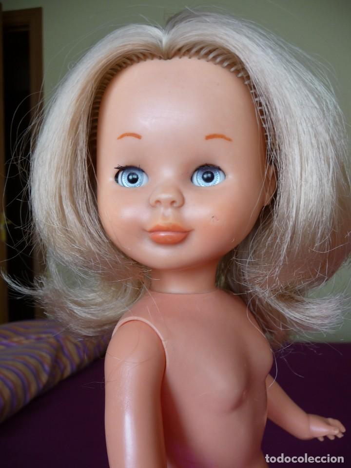 Muñecas Nancy y Lucas: Nancy de famosa rubia ojos azul margarita patabollo de las primeras tobillo ancho años 70 - Foto 13 - 194895023