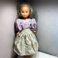 Muñecas Nancy y Lucas: NANCY RUBIA PELO RIZADO OJOS AZULES CON MECHAS. Lote 195274201