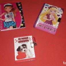 Muñecas Nancy y Lucas: LIBRETA Y DOS DIARIOS NANCY NEW REVISTA.. Lote 204064565