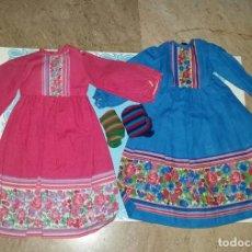 Muñecas Nancy y Lucas: LOTE 2 VESTIDOS DE NANCY MODELO FUCSIA EN SUS 2 VERSIONES. Lote 212087775