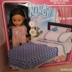 Muñecas Nancy y Lucas: NANCY Y SU CAMA DE REEDICION NUEVA EN CAJA. Lote 218273695