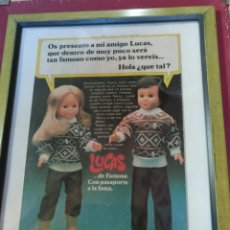 Muñecas Nancy y Lucas: CUADRO NANCY Y LUCAS AÑOS 70. Lote 221743523