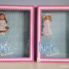 Muñecas Nancy y Lucas: CAJAS VACÍAS DE LOS CONJUNTOS NOSTALGIA E INVIERNO DE NANCY DE FAMOSA (REEDICIÓN).. Lote 221644642