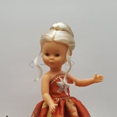 Muñecas Nancy y Lucas: VESTIDO PARA NANCY EN SEDA SALVAJE BORDADA. Lote 232119760