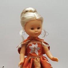 Muñecas Nancy y Lucas: VESTIDO Y CAPITA PARA NANCY EN SEDA SALVAJE BORDADA. Lote 232676981