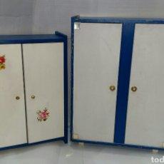 Muñecas Nancy y Lucas: LOTE 2 ARMARIOS NANCY. 47 X 36 X 12 CM // 41 X 30 X 12 CM. DESCONOZCO EL FABRICANTE.. Lote 235378935