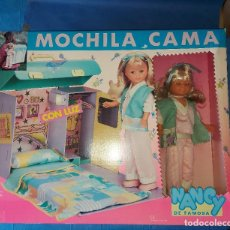 Muñecas Nancy y Lucas: MUÑECA NANCY MOCHILA CAMA CON LUZ - DE LOS 80 NUEVA A ESTRENAR EN SU CAJA. Lote 241947365