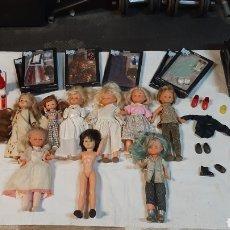 Bonecas Nancy e Lucas: GRAN LOTE DE 9 NANCYS UN LUCAS Y UNA LESLY Y COMPLEMENTOS DE DIFERENTES ÉPOCAS. Lote 243549890