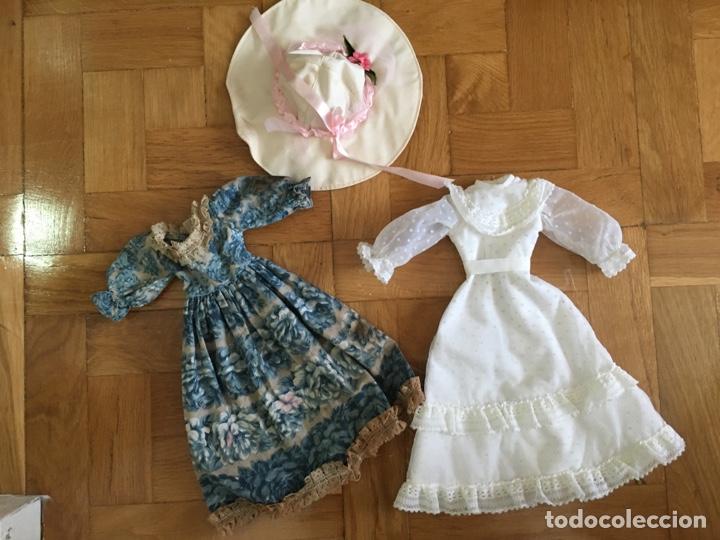 DOS VESTIDOS ORIGINALES NANCY MODELO NOSTALGIA (Juguetes - Muñeca Española Moderna - Nancy y Lucas, Vestidos y Accesorios)