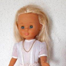 Bambole Nancy e Lucas: NANCY RUBIA FAMOSA MADE IN SPAIN OJOS AZULES VESTIDO COMUNIÓN COLLAR ROPA INTERIOR 43 CM. Lote 287927278