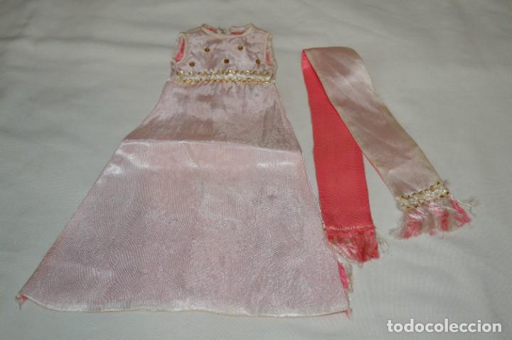 CONJUNTO PUESTO DE LARGO / REPUESTO NANCY ANTIGUA - AÑOS 70 - ETIQUETA NÚM. 1 / FAMOSA - ¡MIRA! (Juguetes - Muñeca Española Moderna - Nancy y Lucas, Vestidos y Accesorios)