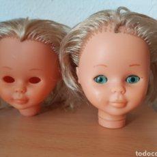 Muñecas Nancy y Lucas: DOS CABEZAS DE NANCY DE FAMOSA PARA RESTAURAR. Lote 289690838