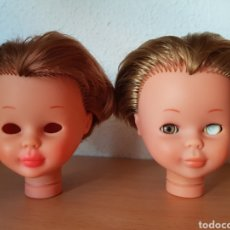 Muñecas Nancy y Lucas: DOS CABEZAS PARA RESTAURAR DE NANCY DE FAMOSA. Lote 289821518