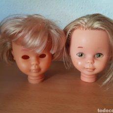 Muñecas Nancy y Lucas: DOS CABEZAS NANCY DE FAMOSA. Lote 289836668