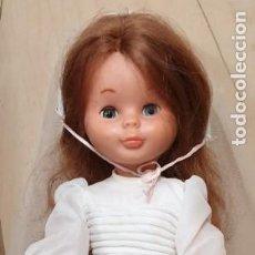 Bambole Nancy e Lucas: MUÑECA NANCY PELIRROJA OJOS AZULES PATABOLLO VESTIDA DE COMUNIÓN AÑOS 70. Lote 289847888